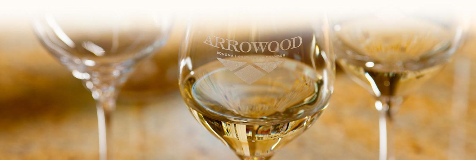 Arrowood white wines in glasses