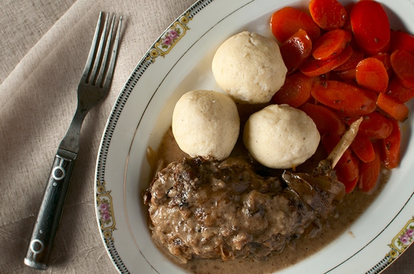 Hasenpfeffer with semolina dumplings